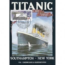 BÉLGICA (2012). Titanic - Hannut. Tarjeta máxima (1) **