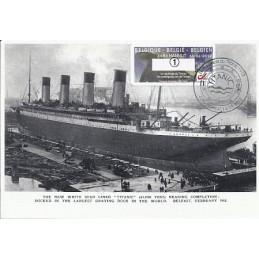 BÉLGICA (2012). Titanic - Hannut. Tarjeta máxima (1)