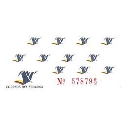 ECUADOR. Logotipo correos (4). Etiqueta en blanco