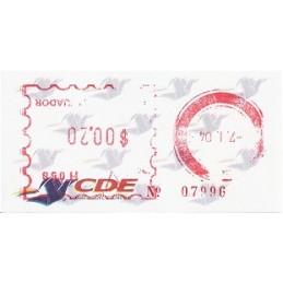 ECUADOR. Logotipo correos (2C). H058. Sello nuevo ($00.20)