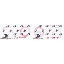 ECUADOR. Logotipo correos (4C). H062. Sellos nuevos ($00.01)