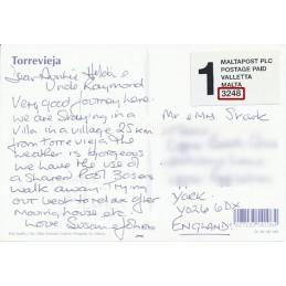 ESPAÑA (2001). MALTAPOST - 3205. Tarjeta postal