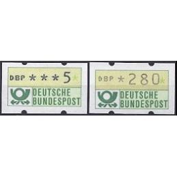 ALEMANIA (1981). Emblema postal (1). ATMs nuevos (5 ---> 280)