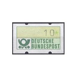 ALEMANIA (1981). Emblema postal (1). ATM nuevo, impr. parcial