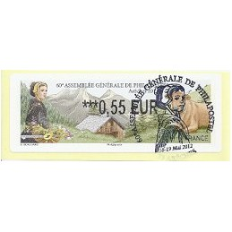 FRANCIA (2012). 60 Philapostel - Arêches. ATM (0,55), mat. P.D