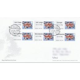 R. UNIDO (2012). Union flag - 030003 1. Sobre primer día (serie)