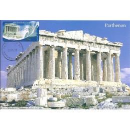 GRECIA (2004). Partenón (1) - negro. Tarjeta máxima (2012)