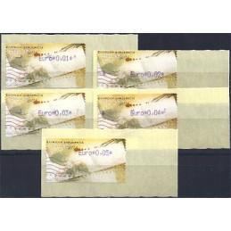 GRECIA (2011). Carta - violeta. ATMs nuevos (0,01-0,05)