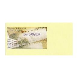 GRECIA (2011). Carta - violeta. ATM nuevo (0,03)