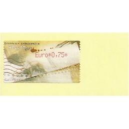 GRECIA (2011). Carta - rojo. ATM nuevo (0,75)
