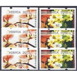 AUSTRIA (2012). HIBRIA 2012 (Flores 4). Series 3 val.