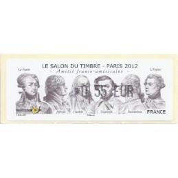 FRANCIA (2012). Amitié FR-USA - LISA 1. ATM nuevo (0,55)