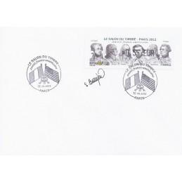 FRANCIA (2012). Amitié FR-USA - LISA 1. Sobre (firmado)