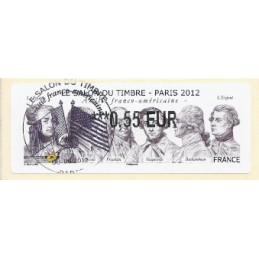 FRANCIA (2012). Amitié FR-USA - LISA 2. ATM (0,55), mat. P.D.