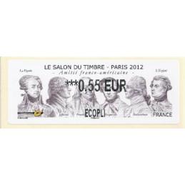 FRANCIA (2012). Amitié FR-USA - LISA 2. ATM nuevo (0,55 ECOPLI)