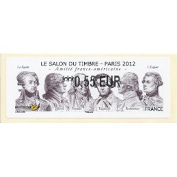 FRANCIA (2012). Amitié FR-USA - LISA 2. ATM nuevo (0,55)