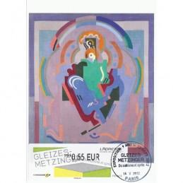 FRANCIA (2012). Gleizes-Metzinger. Tarjeta máxima (Gleizes)