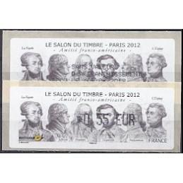FRANCIA (2012). Amitié FR-USA - LISA 1. ATM (0,55) + rec. FR