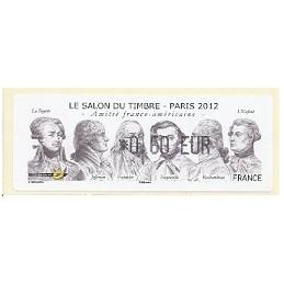 FRANCIA (2012). Amitié FR-USA - LISA 1. ATM nuevo (0,60)