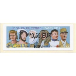FRANCIA (2012). Gobernantes - LISA 2. ATM nuevo (0,55 ECOPLI)