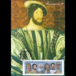 FRANCIA (2012).. Gobernantes. Tarjeta máxima (François 1er) *