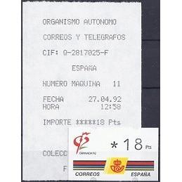 ESPAÑA. 3.1. GRANADA 92 - 3 dígitos. ATM nuevo (18) + rec. (11)