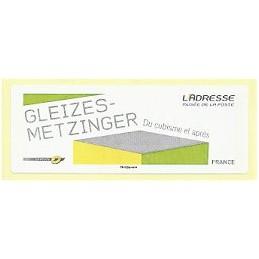 FRANCIA (2012).  Gleizes-Metzinger. Etiqueta en blanco