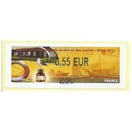 FRANCIA (2012). Fête mer et marins - Brest. ATM nuevo (0,55 ECOP
