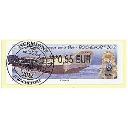 FRANCIA (2012). Hermione - Rochefort. ATM (0,55), matasello P.D.