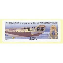 FRANCIA (2012). Hermione - Rochefort. ATM nuevo (0,55 ECOPLI)