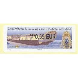 FRANCIA (2012). Hermione - Rochefort. ATM nuevo (0,55)