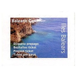 ESPAÑA (2011). SWISS POST - Balearic Card.  Etiqueta prepago