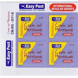 ESPAÑA (2011). Easy Post - Costa del Maresme. Bloque de 4