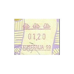 AUSTRALIA (1999). Arte aborígen. AUSTRALIA 99. ATM usado (01.20)