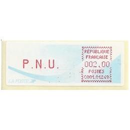 FRANCIA (1988). Cometa - C001.01249 - rojo. ATM (P.N.U. 2,00)