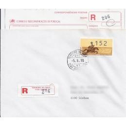 PORTUGAL (1990). Emblema postal (1). Sobre P.D. (certificado)