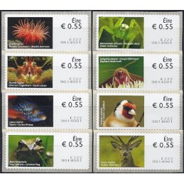 IRLANDA (2011). Animales (2) - 9814001. ATMs nuevos (8 x 0.55 EU