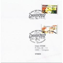 AUSTRIA (2012). GMUNDEN 2012 (Flores 4). Sobres P.D. (España)