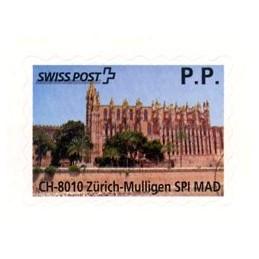 ESPAÑA (2012). SWISS POST - Balearic Card P.P.  Etiqueta prepago