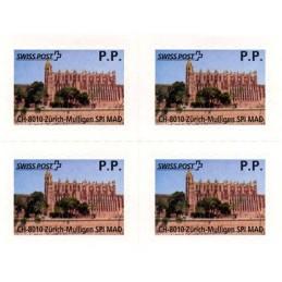 ESPAÑA (2012). SWISS POST - Balearic Card P.P. Bloque de 4