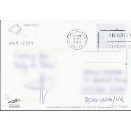 ESPAÑA (2011). Easy Post - Mallorca (1). Postal (vía Malta)