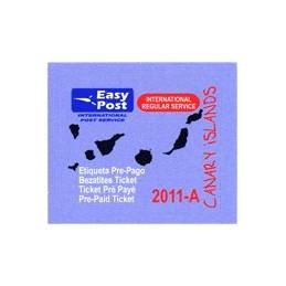 ESPAÑA (2011). Easy Post - Canary Islands - IRS.  Etiqueta nueva