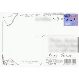 ESPAÑA (2011). Easy Post - Canary Islands - IRS. Postal