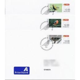 DINAMARCA (2012). Pájaros Dinamarca (2). Sobres P.D. España (A)