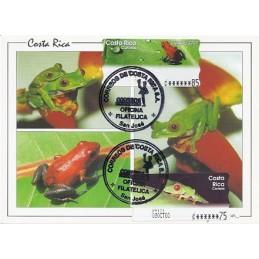 COSTA RICA (2003). Rana calzonuda + roja. Tarjeta máxima