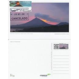 COSTA RICA (2004). Volcán Arenal. Tarjeta máxima (prefranqu.)