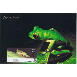 COSTA RICA (2003). Rana calzonuda. Tarjeta máxima