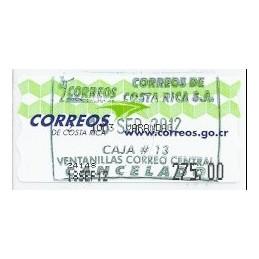COSTA RICA (2012). Logotipo Correos (1) - Epelsa. ATM, matasello