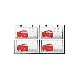 PORTUGAL (1995). Auto-ambulancia. Serie 4 val.