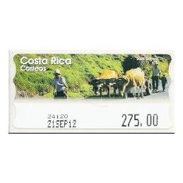 COSTA RICA (2012). Boyero - Epelsa. ATM nuevo